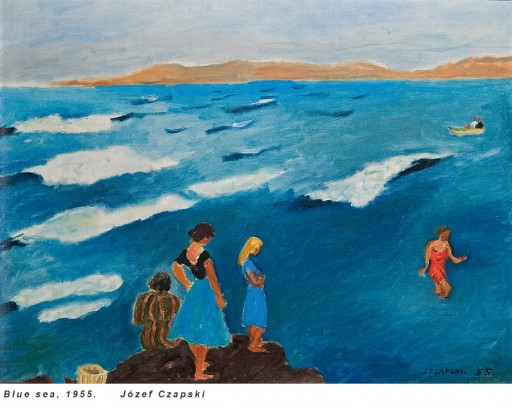 jozef_czapski_blue_sea